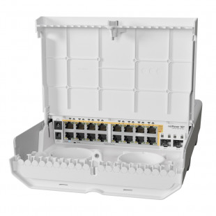 Комутатор MikroTik netPower 16P (CRS318-16P-2S+OUT)