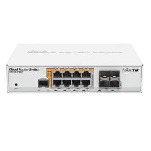 Комутатор MikroTik Cloud Router Switch 112-8P-4S-IN (CRS112-8P-4S-IN)